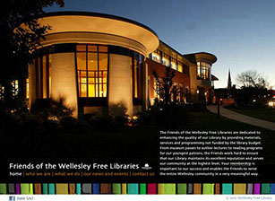 Friends of the Wellesley Free Libraries website design